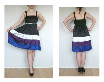 Striped dress - vintage party dress