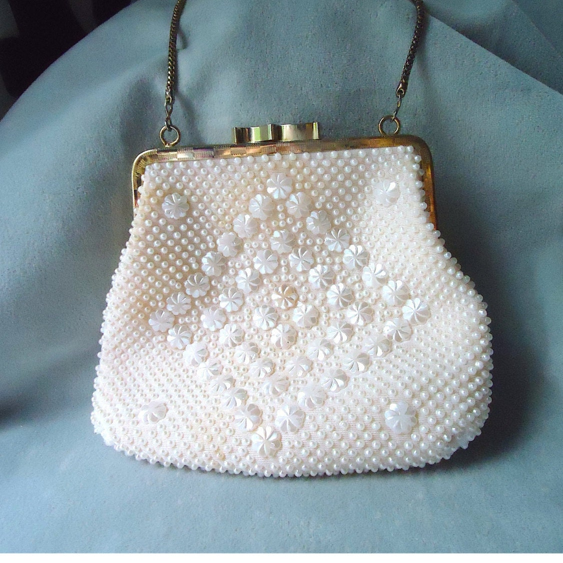 vintage golden name beaded purse by thatchandsloane on etsy