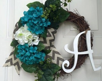 Grapevine Wreath, Spring wreath, front door Wreath, monogram wreath, fall wreath, wreaths