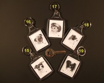 Small Dog Breed Keyrings