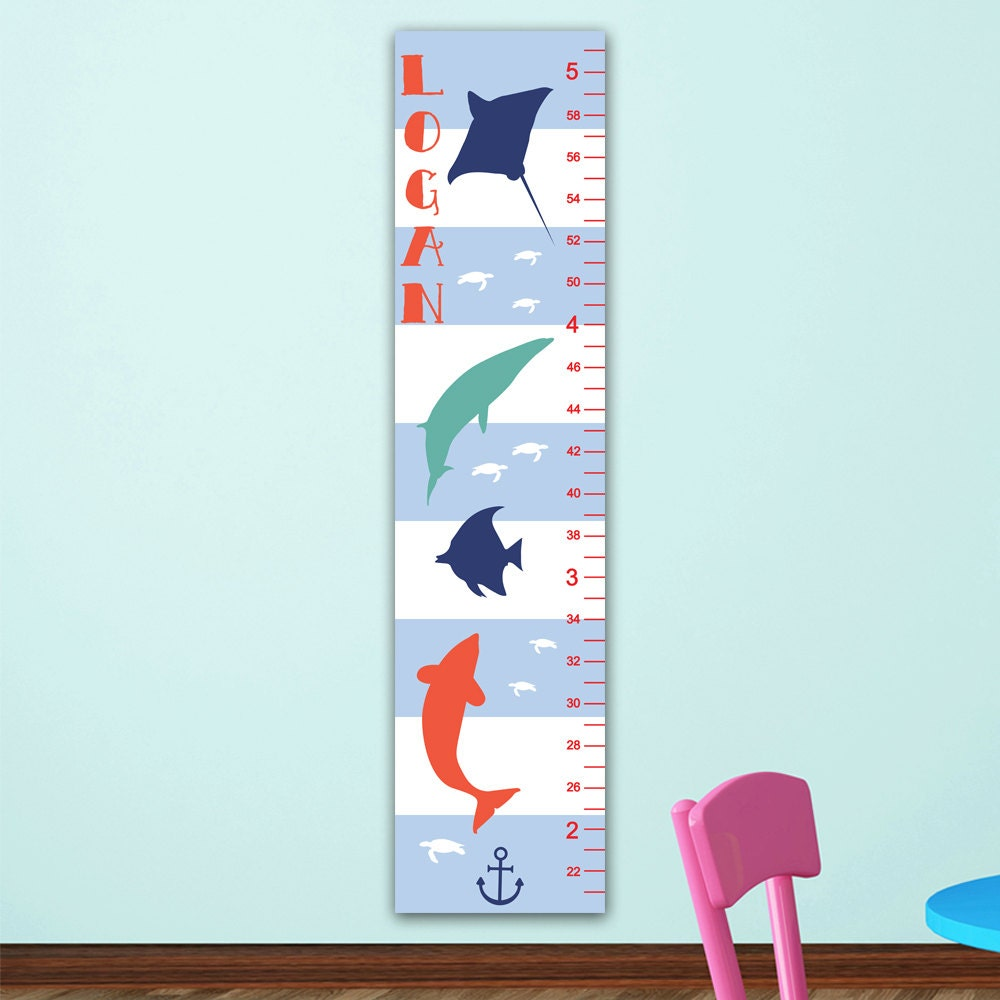 Wall Growth Chart Boys Popular items for canvas growth chart on etsy