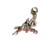 RESERVED - Knight in Shining Armor Unicorn Dangle Charm for Floating Memory Locket Charms Accessories and Jewelry Supplies