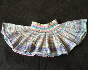 Hand Knitted Skirt ,  Girls Skirt ,  Skirt ,  Multicoloured Skirt ,  Girls Clothing , Hand Knit , Unique Gift  Girls Gift  Handmade Item