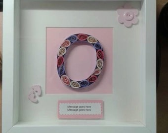Handmade quilled letter for any occasion