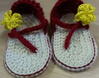 Crocheted Baby Sandals 6-12 Months