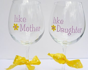 Mother's Day Gift / Birthday Gift For Mom From Daughter / Wine Glass For Mom / Mothers Day Gift From Daughter / Gift For Mom /Mom Wine Glass