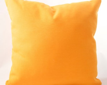"""Indoor/Outdoor Orange cushion cover. Fits an 18"""" x 18"""" insert."""