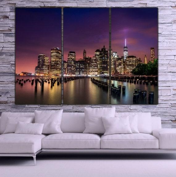 New York City Skyline Canvas Wall Art Large Art New York