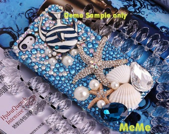 1 Set  Deco Kit Alloy Starfish Bubble Fish Gems Rhinestones Accessories Cabochon Deco Den on Craft Cell Phone Case DIY Deco kit DD3600