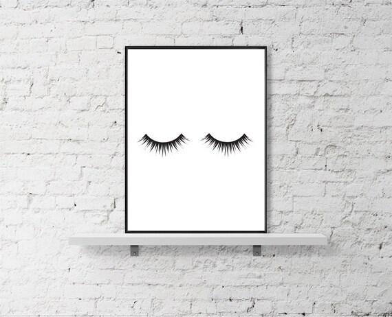 Makeup Print, Eyelash Print, Mascara Print, Fashion Decor Print, Black ...: https://www.etsy.com/listing/237367374/makeup-print-eyelash-print...