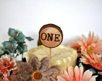 one cake topper, woodland cake topper, custom woodland party cake topper, enchanted forest cake topper, child's woodland party cake topper
