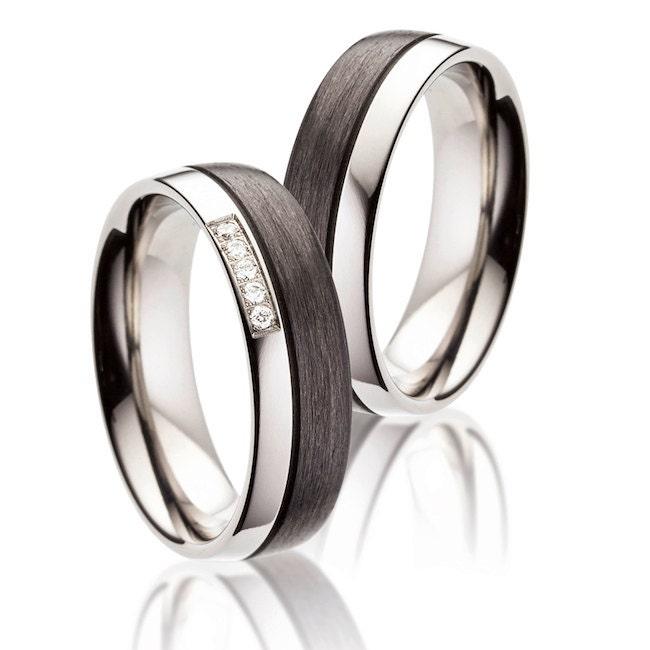 Elegant Titan Carbon Ring special and unique Wedding