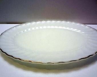 Anchor Hocking Milk Glass Platter
