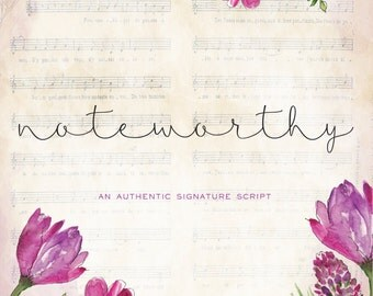 Noteworthy Signature Script Font Download Commercial or Personal