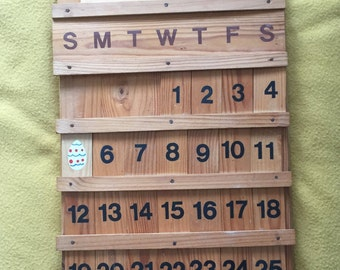 Items similar to save the date bridal shower favor cottage chic photo prop perpetual wooden - Wooden perpetual wall calendar ...