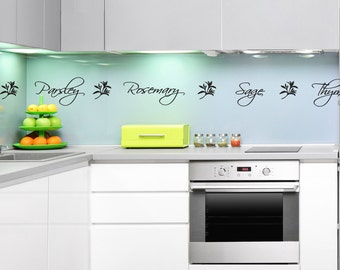Herb Names Kitchen Wall Decal - Kitchen Wall Stickers with herb words