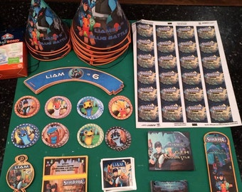 Slugterra Customizable Birthday Supplies-Printable
