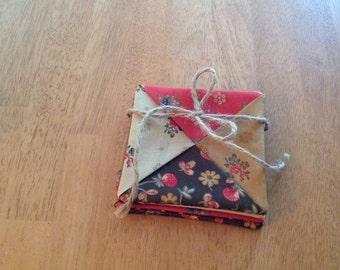 Fabric Coasters – Set of 4 - Handmade - 001015