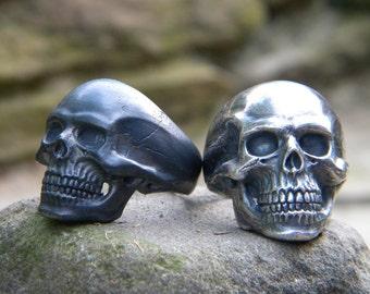 Skull Ring I: Sterling Silver Ring