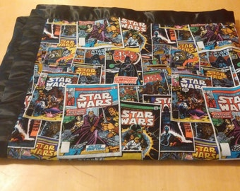 satin trimmed Star Wars receiving blanket