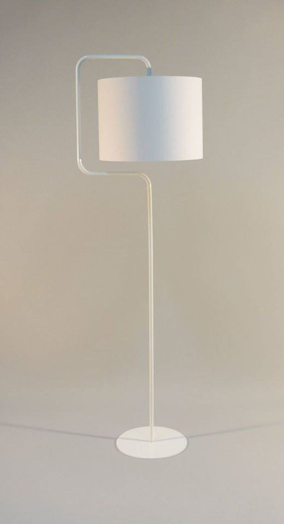 Handmade Floor Lamp With Drum Lampshade Made From By