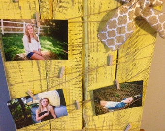 Rustic Distressed Wood Picture Board