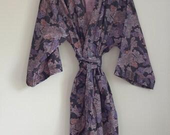 Beautiful Thai Silk Robe/Kimono/Duster XL