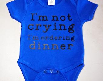 Baby Boy Bodysuit, Custom Bodysuit, Ordering Dinner Bodysuit