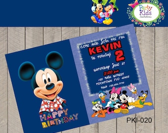 Mickey Mouse Party invitation PRINTABLE FILE invite PKI-020