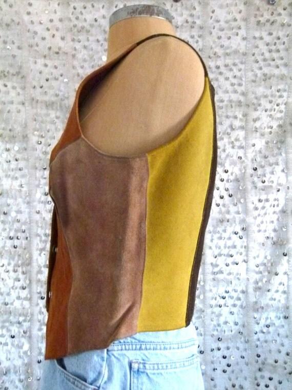 Vintage Colors Of The West Suede Vest; S/M