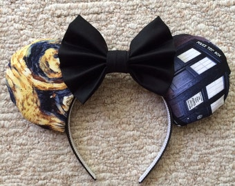Doctor Who Inspired Mouse Ears, Custom Mouse Ears
