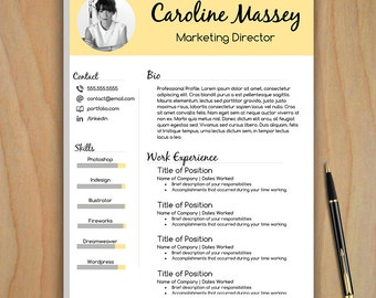 us letter resume - Creative Resume Template Download Free