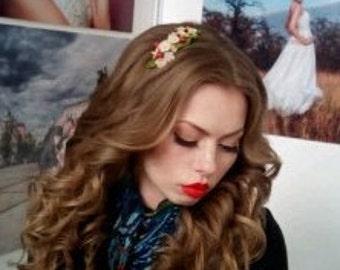 Cherry blossom hair - bridal flower comb - blossom hair comb - wedding flower comb -  bridal comb - flower hair accessory