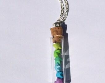 Custom Lucky Origami Star Jar Necklace