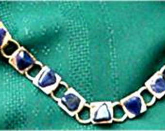 Blue Lapis Gemstone Sweater Guard