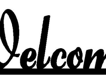 Welcome sign DXF file for CNC laser,plasma or router