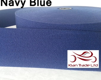 Navy Blue Elastic -50 mm ( 2 inch ) Wide waistband Ladies Belting craft sewing dress material -Twill