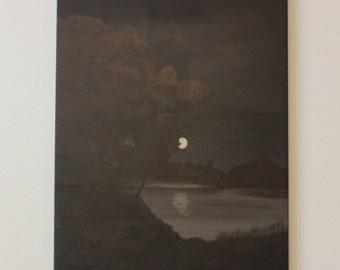 Original Landscape Art, Midnight Walk