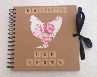"Personalised Hen Party Scrapbook 8"" x 8"""