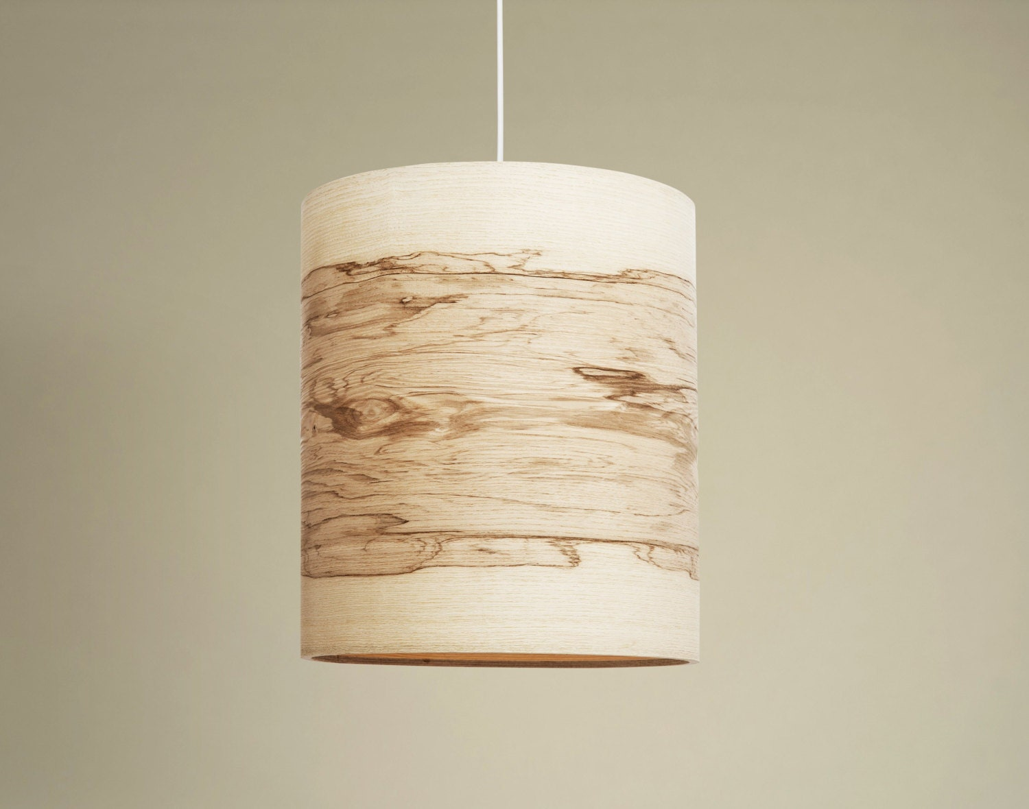 Flame 8 Pendant Lamp Shade Natural Ash Wood Veneer By