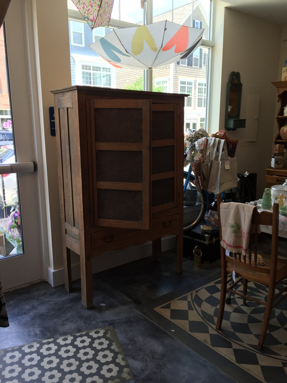Antique Pie Safe Cabinet With Punched Tin Primitive Antique