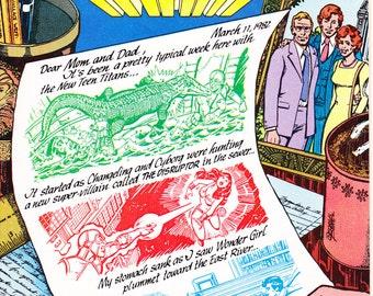 Teen Titans 20, Raven comic book, Starfire, the new Beast Boy, Robin, Kid Flash, Wonder Girl, Cyborg, Vintage. 1982 DC Comics in NM+ (9.6)