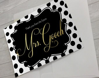 Future Mrs Thank You Notecard for the Bride to Be!