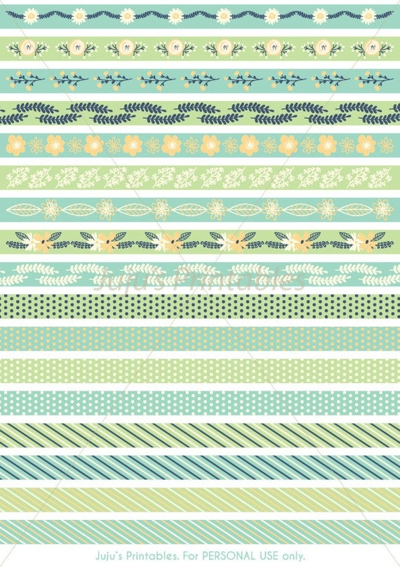 Zany image with printable washi tape