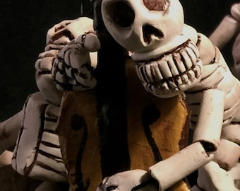 Skelly Musician - Articulated Skeleton Mariachis - Bass Player