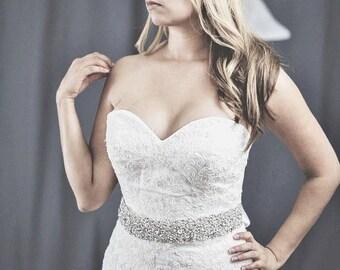 bridal sash,  bridal sash, crystal beaded sash,