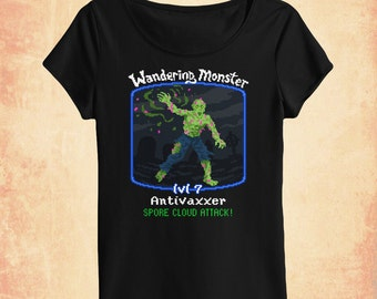 Antivaxx zombie women's scoopneck t-shirt inspired by politics and science