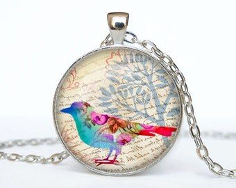 Bird necklace Bird pendant Bird jewelry