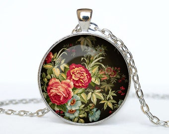 Flower necklace Flower pendant Flower jewelry