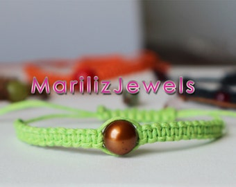 Beautiful handmade makrame bracelets with various semi precious gemstones